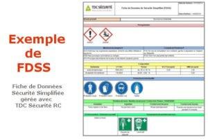 Exemple de FDSS Fiche de données Sécurité Simplifiée