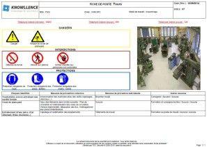 Exemple de fiche de sécurité au poste de travail