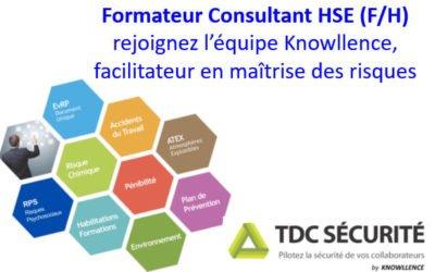 Knowllence recrute un·e Consultant Formateur Logiciel Santé Sécurité Environnement (F/H) CDI – France entière