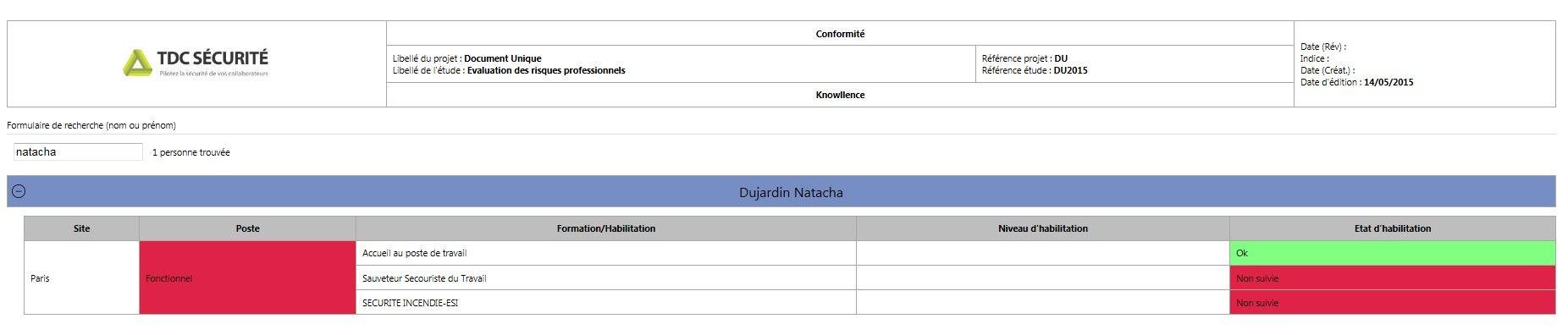 gestion habilitation formation
