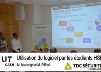 Partenariat réussi avec l'IUT HSE de Caen autour de TDC Sécurité !