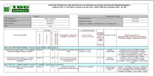 Logiciel Pénibilité : fiche de prévention des expositions - évaluation des risques professionnels