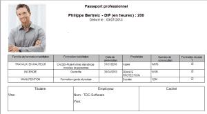 Logiciel gestion des habilitations : passeport professionnel