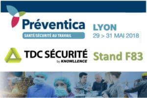 TDC Sécurité à Préventica Lyon 2018
