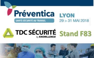 Rencontrons-nous sur Préventica Lyon 29>31 mai 2018 !
