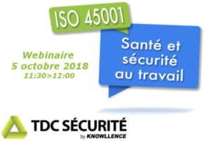 Webinaire logiciel pour ISO 45001:2018